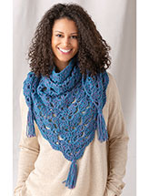 Blue Horizon Shawl Crochet Pattern