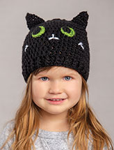 Chat Noir Beanie Crochet Pattern