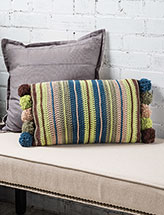 Rustic Stripes Pillow Crochet Pattern