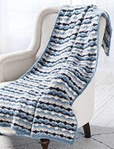 Midnight Blues Throw Crochet Pattern