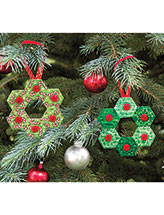 Hexie Wreath Ornaments Quilt Pattern