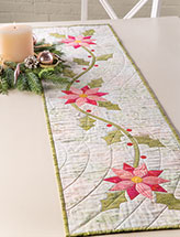 Holiday Florals Table Runner Quilt Pattern