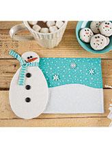 Build a Snowman Mug Rug Quilt Pattern