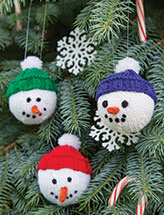 Snowman Ornaments Knit Pattern