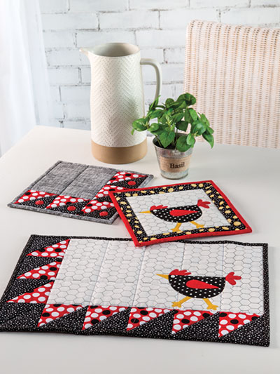 EXCLUSIVELY ANNIE'S QUILT DESIGNS: Egg-cellent Day Kitchen Set Quilt Pattern