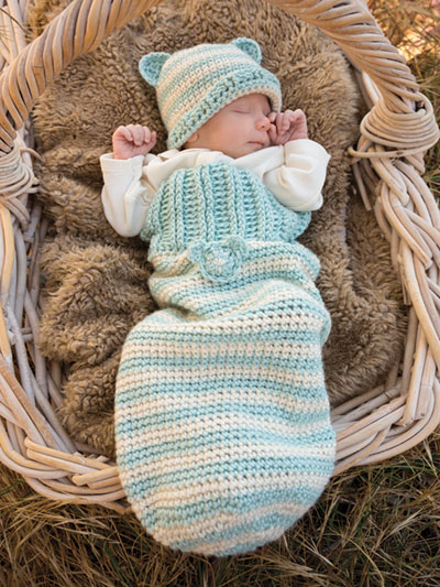 ANNIE'S SIGNATURE DESIGNS: Nip Nap Cocoon Set Crochet Pattern