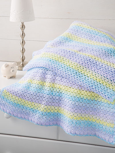 Painted Boxes Baby Blanket Crochet Pattern
