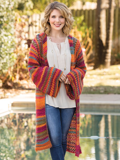 Coatigan of Many Colors Crochet Pattern