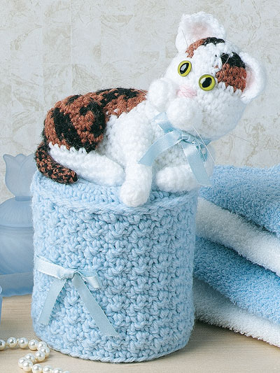 Calico Cat Tissue Roll Cover Crochet Pattern