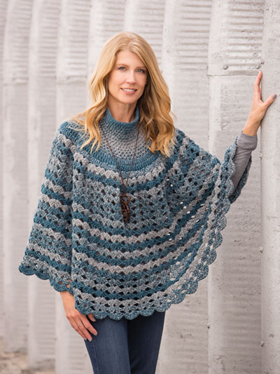Open Shells Poncho Crochet Pattern