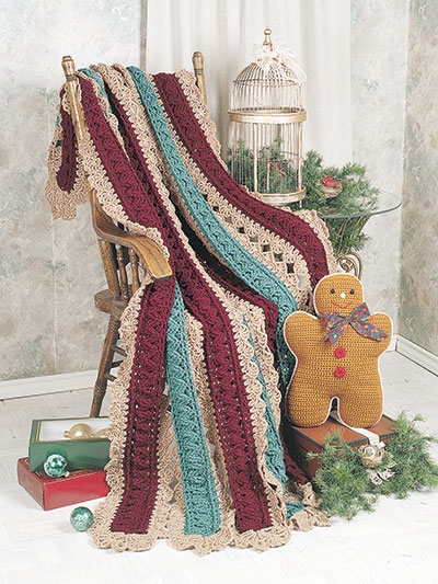 Autumn Lace Afghan Crochet Pattern