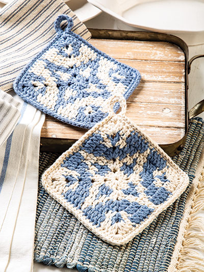 Farmhouse Pot Holder Crochet Pattern