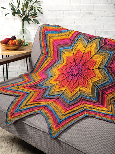 Daystar Throw Crochet Pattern