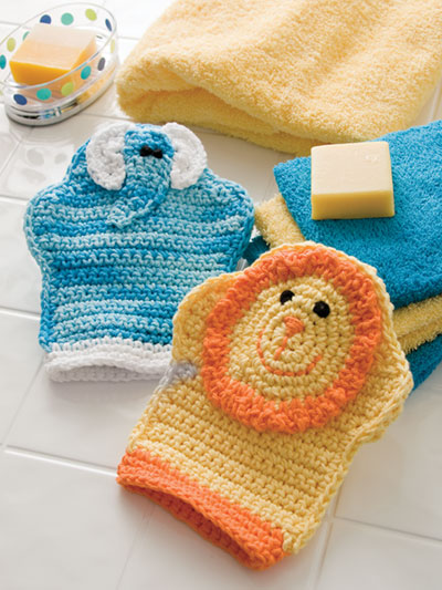 Bath Mitts Crochet Pattern