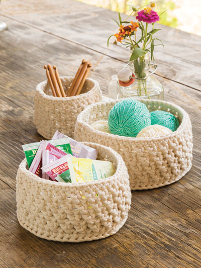 Decorative Baskets Crochet Pattern