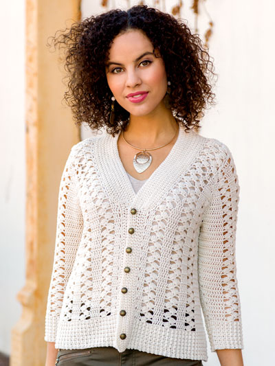 Crocus Lace Cardigan Crochet Pattern
