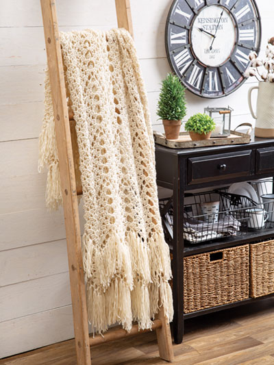 Fringed Throw Crochet Pattern