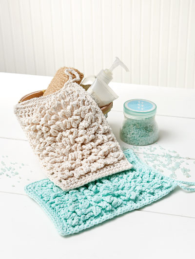 Fluffy Bath Mitt Crochet Pattern