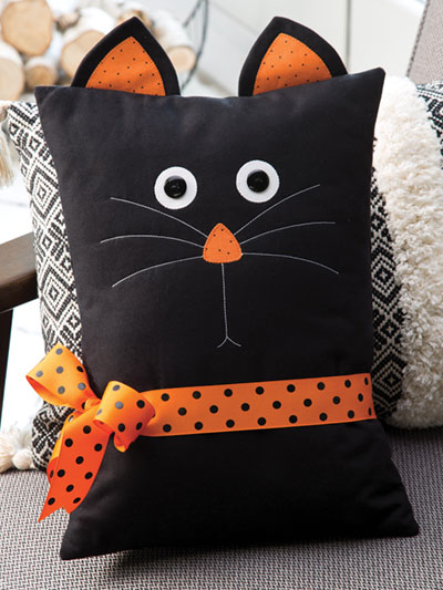 Black Cat Pillow Sewing Pattern
