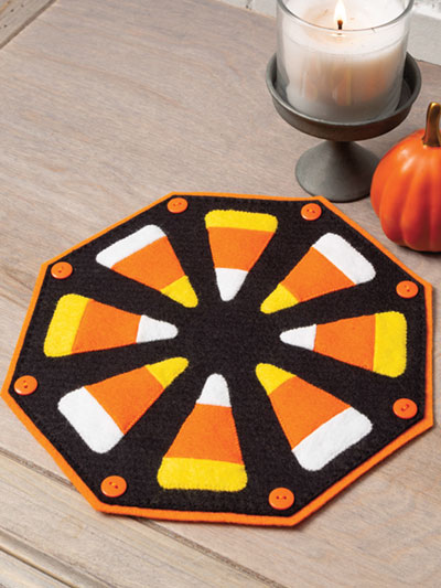 Candy Corn Candle Mat Quilt Pattern