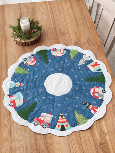 Campers All Around Table Topper Quilt Pattern