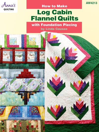 How to Make Log Cabin Flannel Quilts with Foundation Piecing Pattern