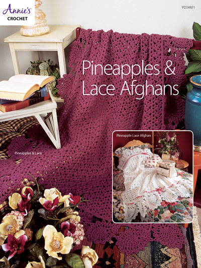 Pineapples & Lace Afghans Crochet Pattern