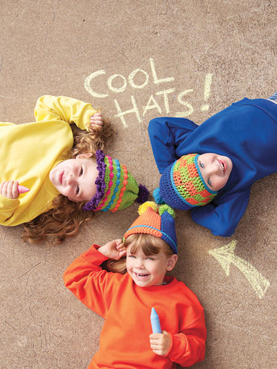 Cool Hats For Happy Kids Crochet Pattern