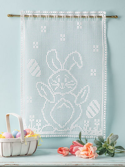 Happy Bunny Wall Hanging Crochet Pattern