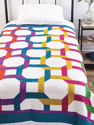 Contemporary Wedding Ring Quilt Pattern