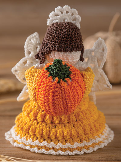 Harvest Blessings Angel Crochet Pattern