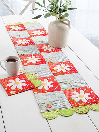 Daisy Fields Table Set Sewing Quilt Pattern