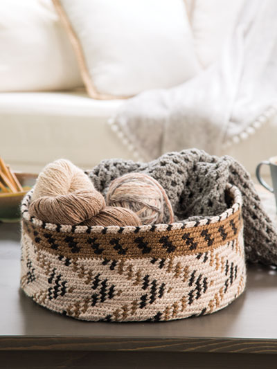 Out of Africa Basket Crochet Pattern