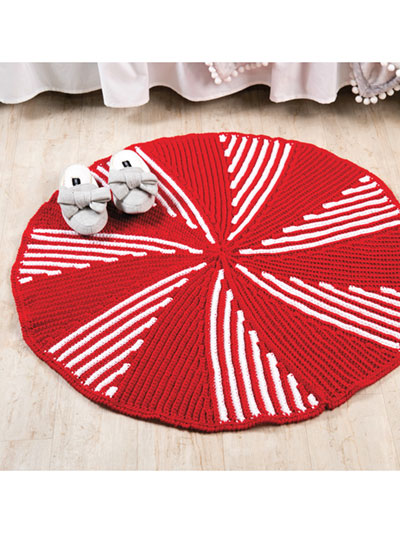 Peppermint Twist Rug Crochet Pattern