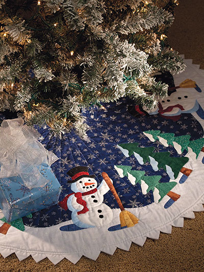 Friendly Snowman Tree Skirt Quilt Pattern