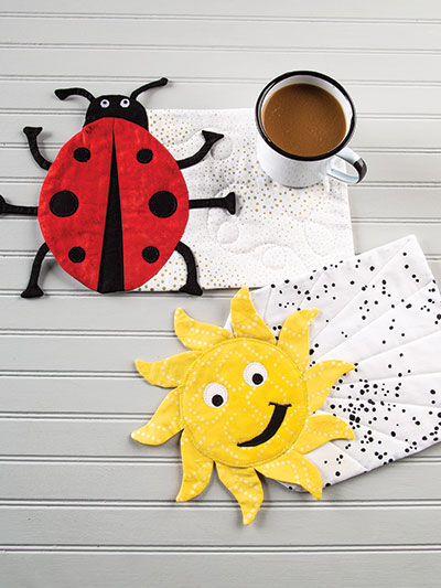 Summer Fun Mug Rugs Sewing Pattern