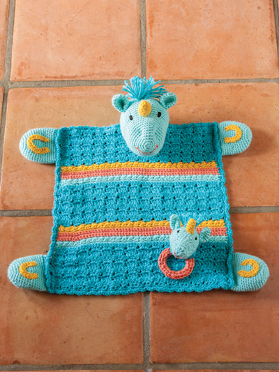 Unicorn Lovey With Matching Rattle Crochet Pattern