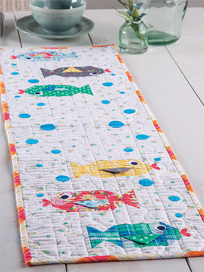 Tiny Bubbles Table Runner Quilt Pattern