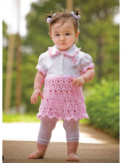 Sunday Pink Dress Crochet Pattern