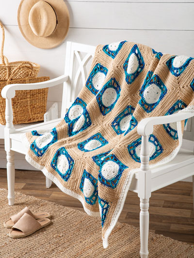 Sand Dollar Throw Crochet Pattern