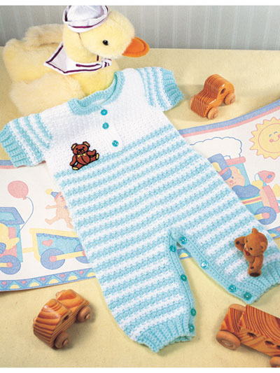 Striped Overalls Crochet Pattern