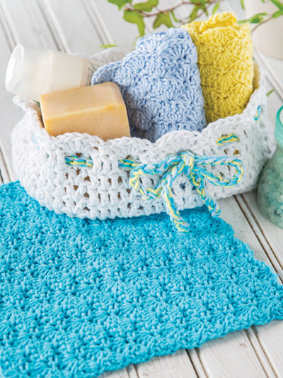 Spa Basket Set Crochet Pattern