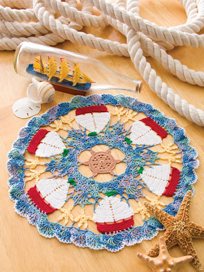 Sailboat Doily Crochet Pattern