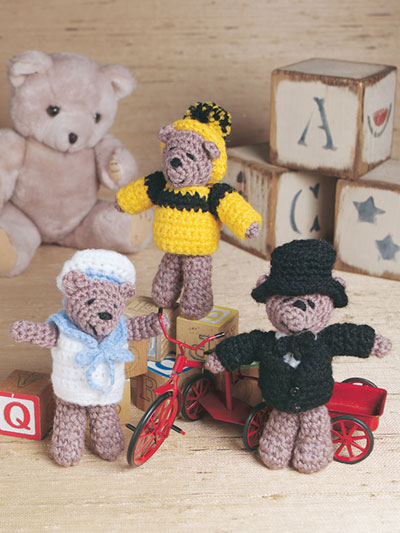 Dress-Me Bears Crochet Pattern