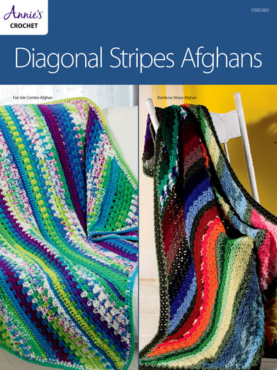 Diagonal Stripes Afghans Crochet Pattern