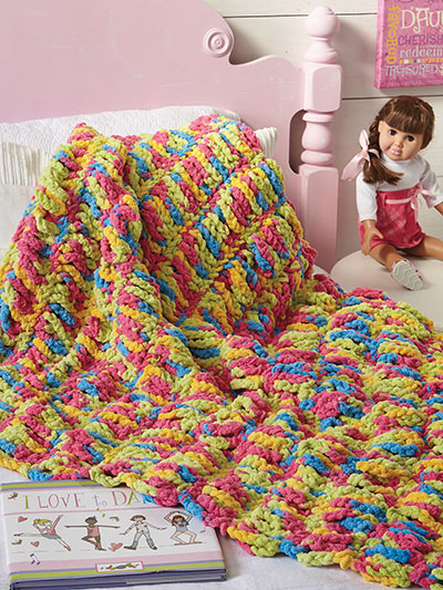 Kids Quick & Cozy Throw Crochet Pattern