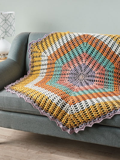 Summer Morning Throw Crochet Pattern