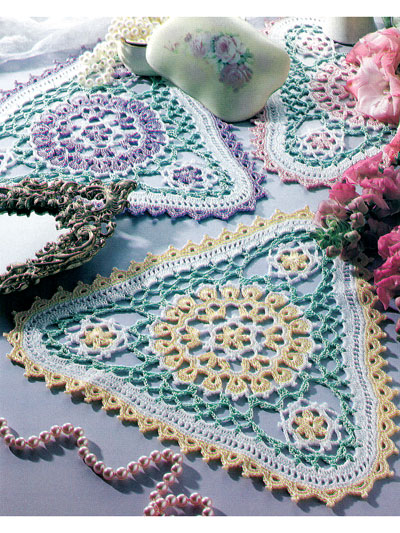 Patio Garden Doilies Crochet Pattern