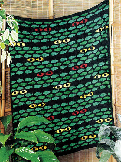 Jungle Eyes Afghan Crochet Pattern