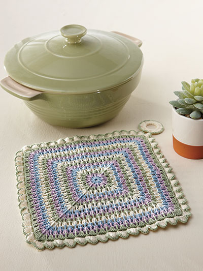 Pastel Pot Holder Crochet Pattern